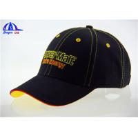 Wholesale OEM Cotton Custom Baseball Caps with Contrast Sandwich and Eyelets , Fashion Baseball Cap from china suppliers