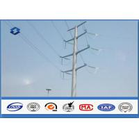 Quality Electric Angle Power Steel Pole with 110KV Double Circuits Hot Dip Galvanized for sale