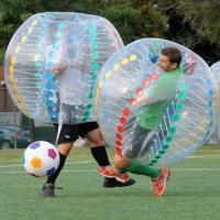 Wholesale Transparent Human Inflatable Soccer Ball Inflatable Sport Games Funny Bumper Ball from china suppliers