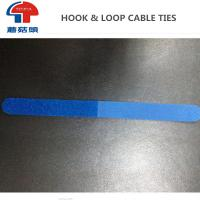 Wholesale Customized design blue colour velcro cable ties coloured hook loop strap from china suppliers