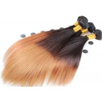 Wholesale Double Drawn Soft Ombre Colored Human Hair Extensions With Light Blonde from china suppliers
