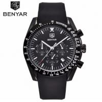 Buy cheap Wholesale Fashion Men Multifunction Chronograph Silica Gel Band Waterproof 30m Quartz Wrist Watches BY-5120 from wholesalers