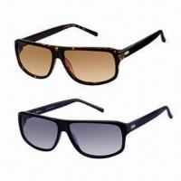 Wholesale Men's Sunglasses, Comfortable Wear, Latest Design Plastic Sunglasses, Available in Various Colors from china suppliers