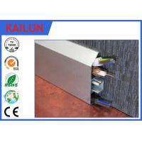 Wholesale Interlocking Aluminium Skirting Board Natural Anodized , 6000 Series Aluminium Skirting Profiles from china suppliers