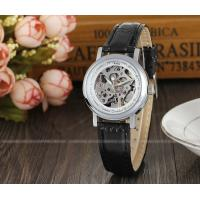 Buy cheap Winner Mens Automatic Watch  , Black Leather Strap Ladies Fshion Wristwatch Best Gift Gold from wholesalers