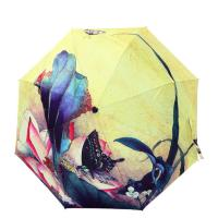 Wholesale Fashion New Folding Windproof Anti UV Clear/Rain Flower oil painting Umbrella from china suppliers