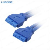 Wholesale Blue usb3.0 cable 20Pin female to female from china suppliers