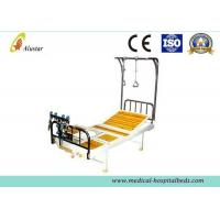 Wholesale Double Arm Stainless Steel Crank Hospital Orthopedic Adjustable Beds with Traction Shelf (ALS-TB06) from china suppliers