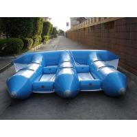 Wholesale 6 Person Blue And White PVC Inflatable Banana Boat Flying Fish Customized from china suppliers