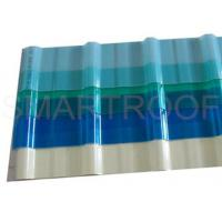 Wholesale Anti - Corrosive FRP Translucent corrugated Roofing Sheets / Plastic Transparent Sheet from china suppliers