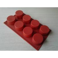Wholesale Eco-Friendly 8 Holes Silicone Chocolate Mould / Silicone Cake Mold Baking Pan from china suppliers