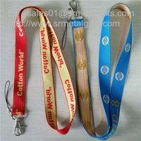 Wholesale Custom woven lanyard factory direct promotional jacquard logo woven lanyard straps, from china suppliers