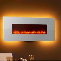 "Wholesale 50"" wall mounted fireplace WF-50  colorful flame back lights crystal stone living room from china suppliers"