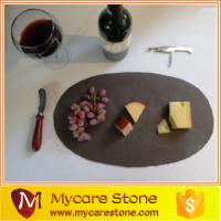 Wholesale Natural split surface slate serving round cheese board from china suppliers