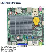 Quality DC12V Nano ITX Industrial PC Motherboard , Dual Gigabit LAN With HDMI VGA LVDS for sale