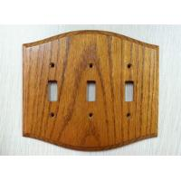 Wholesale Decorative Wooden Switch Plate Covers , Oak Wood Socket Covers 170 X 150 mm from china suppliers