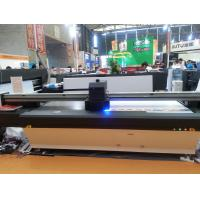 Wholesale 2.5m*1.3m UV Flatbed Printer  with double DX7 heads for rigid flat material glass wood metal leather cardboard from china suppliers