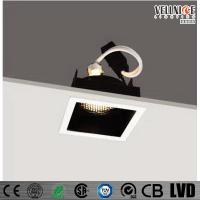 Wholesale 30 Degree Tilt MR16 Recessed LED Downlight Square Shape , Led Ceiling Downlights from china suppliers