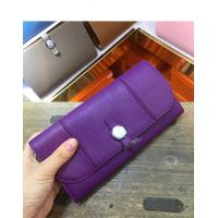 Wholesale Hot sell high end quality purple women purse designer purse goatskin purse passport purse brand flat purse LR-P01 from china suppliers