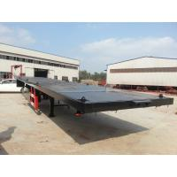 Quality 13m Steel Flatbed Container Trailer with lock for steel pump or coontainer transportation for sale