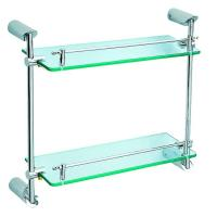 Wholesale 1552 bathroom accessories double glass shelf from china suppliers