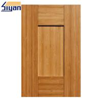 Quality Five Panels MDF Shaker Kitchen Cabinet Doors Dark Wood Grain Size Customized for sale