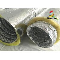 Wholesale Multi Layer Aluminum HVAC Duct Insulation Wrap , Ventilation Fire Resistant Flexible Ducting from china suppliers