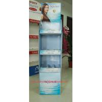 Quality Promotional corrugated floor displays for Shampoo , Haircare store display racks supermarket for sale