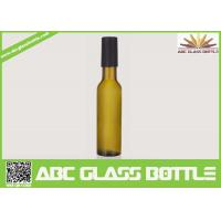Wholesale Factory sale 200ml empty wine glass bottle,custom frosted wine bottle with wooden cap from china suppliers