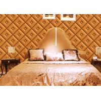 Wholesale Diamond Pattern Inmitation Leather Room Decoration Wallpaper Foam Process from china suppliers