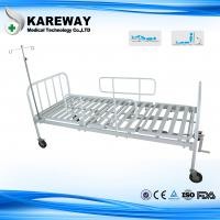 Wholesale Square Tube Platform Manual Hospital Beds Double Crankset With IV Pole , Ease Handling from china suppliers