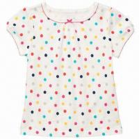 Wholesale Baby Short T-shirt with Eco-friendly Printing, Available in Various Colors from china suppliers