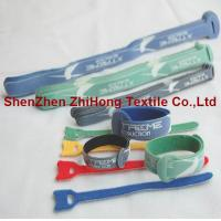 Wholesale Logo printed ultra thin back to back self gripping hook and loop cord wrap from china suppliers