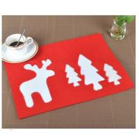 Wholesale top quality wholesale price  colorful modern laser cut felt placemat kitchen dinner table mats from china suppliers