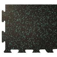 Wholesale Rinterlocking Foam Gym Mats Black SBR Particles EPDM Star Points from china suppliers