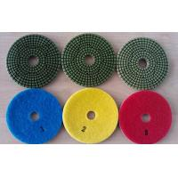 China Green Type 3 Steps 4 Inch Wet Diamond Floor Polishing Pads For Granite Marble on sale