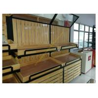 Wholesale Supermarket Wooden Display Rack Fruits / Vegetables Display Rack With Mirror from china suppliers