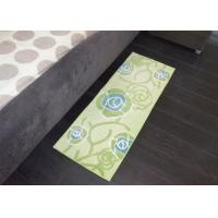 Wholesale Green Rose absorption Microfiber Kitchen Mats , Square protective floor mats from china suppliers