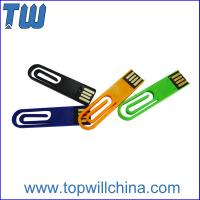 Wholesale Portable Plastic Paper Clip 2GB Usb Disk for Company Gift and Business Man from china suppliers