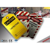 Wholesale PVC Material Lockout Tagout Tags from china suppliers