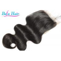 Quality All Knots Bleached Human Hair Closure Medium Brown Lace Natural Looking for sale
