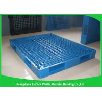 Wholesale Heavy Duty Rackable 1 Ton Steel Reinforced blue Plastic Pallets 1200*1000mm from china suppliers