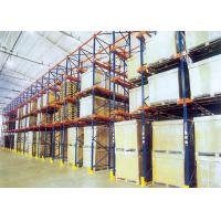 Wholesale Drive In Drive Through Racking System , Industrial Pallet Shelving For Food / Drink Storage from china suppliers