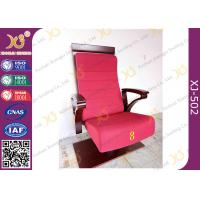 Wholesale High Plywood Back Embroidered Chairs for Church Hall With Single Legs from china suppliers