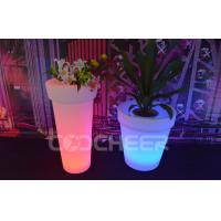 Wholesale Water Proof Garden Illuminated Flower Pots Dmx Controlled Led Plant Pots from china suppliers