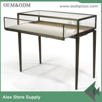 Quality New fashion luxury jewelry showcase jewelry table display metal display with lock for sale