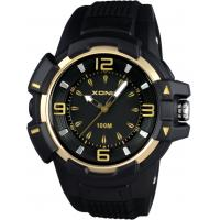 Buy cheap 10ATM Gents sports watches analog styles silicon with IP gold bezel from wholesalers