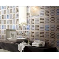 Wholesale Mosaic tile design recycled glass mosaic square pattern for wash room from china suppliers