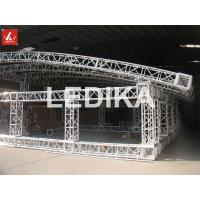 Durable Aluminum Square Truss Bolt Connection Concert Stage Trussing Silver