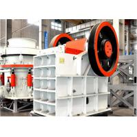 Wholesale Feldspar Crushing Jaw Stone Crusher Machine , Double Toggle Jaw Crusher from china suppliers